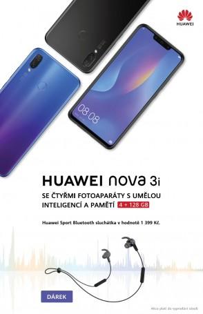 více o novince zde - Nádherná Nova 3i s dárkem - nabídka platná pouze do vyčerpání zásob! - Překrásný telefon Huawei Nova 3i na vás na našich prodejnách...