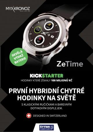 více o novince zde - Naskladnili jsme pro vás první hybridní chytré hodinky! - ZeTime jsou první chytré hodinky s velkým displejem a skutečnými...