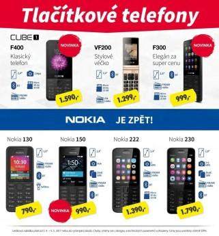 """více o novince zde - Poslední kusy klasických tlačítkových telefonů - Neváhejte s nákupem, zásoby tlačítkových telefonů vč. legendárních """"NOKIÍ"""" se..."""